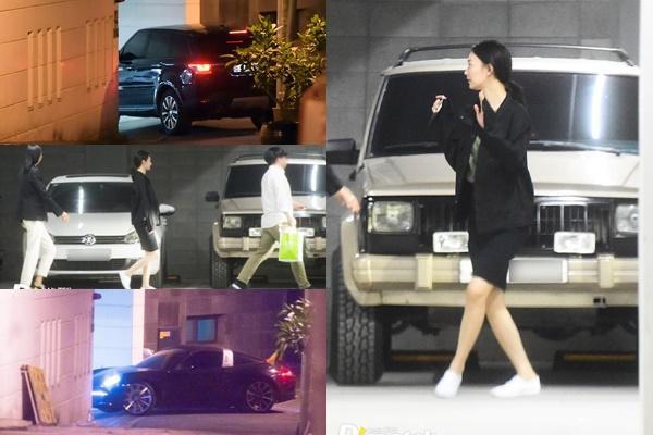 Hình ảnh cặp đôi di chuyển đến nhà đôi phương để hẹn hò.  Gần đây nhất một fan Thái bắt gặp Kim Woo Bin và Shin Min Ah hẹn hò trong một nhà hàng khi họ đi tour tại Hàn Quốc. Hình ảnh cặp đôi thưởng thức bữa tối ấm cúng, giản dị đã khẳng định mối quan hệ ổn định giữa hai người.
