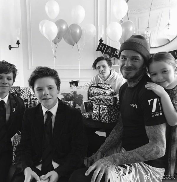 Gia đình nhà Beck vui vẻ trong sinh nhật lần thứ 42 của David Beckham.
