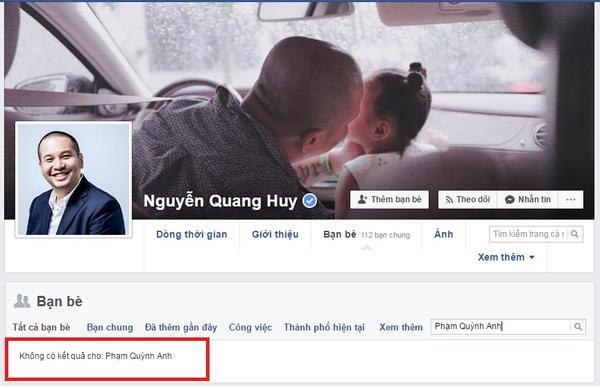 Vợ chồng Phạm Quỳnh Anh hủy kết bạn trên mạng xã hội, rộ nghi vấn trục trặc hôn nhân - Ảnh 1