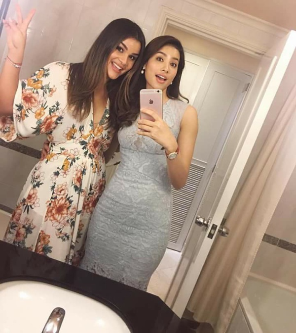 Phạm Hương rạng rỡ đọ sắc bên cô bạn thân Hoa hậu Dominican - ảnh 4