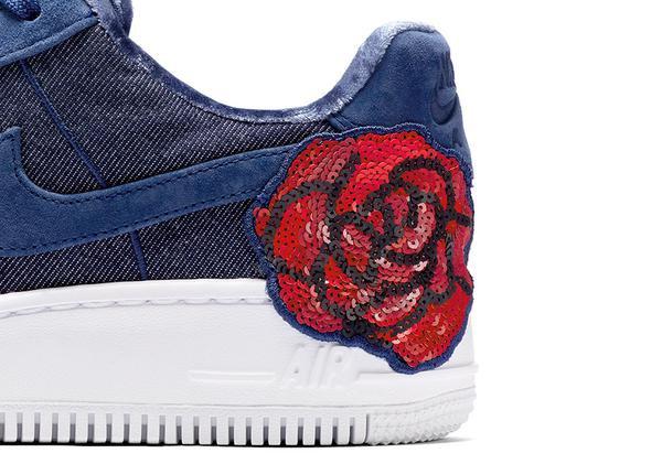 nike air force 1 low denim floral sequin pack 01 - Chỉ bằng vài ba cái bông, lại chơi chiêu 'bình mới rượu cũ' mà Nike vẫn hiên ngang đánh gục tín đồ yêu giày