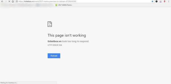 MAMA 2017 tại Việt Nam: 'Sập' cổng bán vé vì quá tải người truy cập