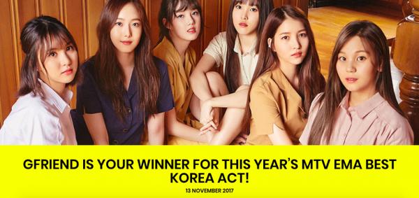G-Friend bất ngờ thắng giải 'Nghệ sĩ Hàn Quốc xuất sắc nhất' tại MTV EMA 2017 - ảnh 3