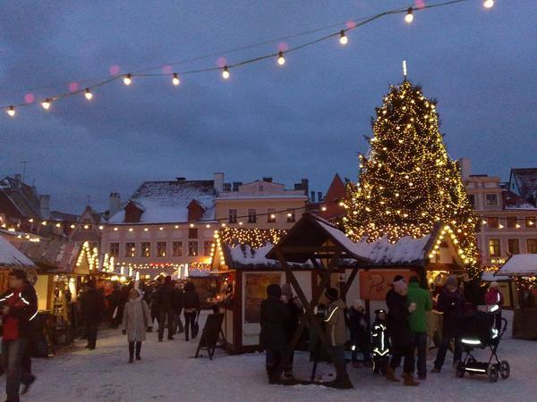 Tallin, Estonia: Có một số cuộc tranh luận về việc liệu Tallin có là nơi dựng cây Giáng sinh đầu tiên trên thế giới hay không. Nhưng dù sao đi nữa, thành phố này đã trang trí những cây xanh để chào đón lễ hội này trong hơn 500 năm nay và chắc chắn nó sẽ ghi điểm về tinh thần Giáng sinh. Bây giờ thành phố đang tổ chức một cuộc thi thường niên cho cây vân sam đẹp nhất và cây chiến thắng sẽ được đặt ở trung tâm của khu chợ Giáng sinh tại quảng trường thị trấn. Tại đây, du khách sẽ mua sắm quà tặng địa phương và thưởng thức các món ăn truyền thống của Estonia như bánh mì, bánh pudding đen và bắp cải.