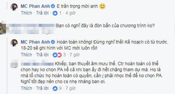 MC Phan Anh phủ nhận nghi vấn bị VTV chơi xấu.